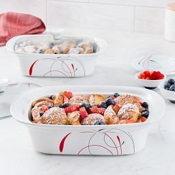Splendor 4-pc Casserole Set with food inside