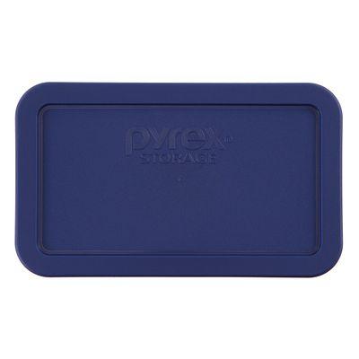 Pyrex 4.8 Cup Oblong Plastic Lid, Blue