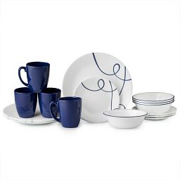 Lia 16-pc Dinnerware Set stacked view