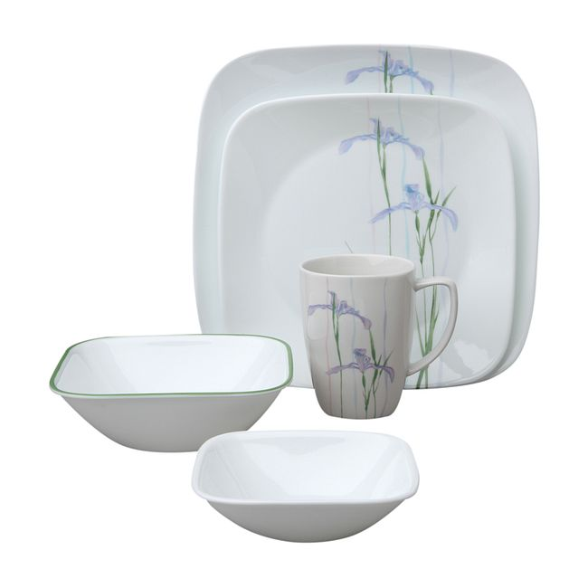 Shadow Iris 30-piece Dinnerware Set, Service for 6