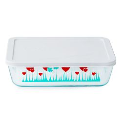 Simply Store® 6 Cup Lucky in Love Rectangle Storage Dish w/Lid On