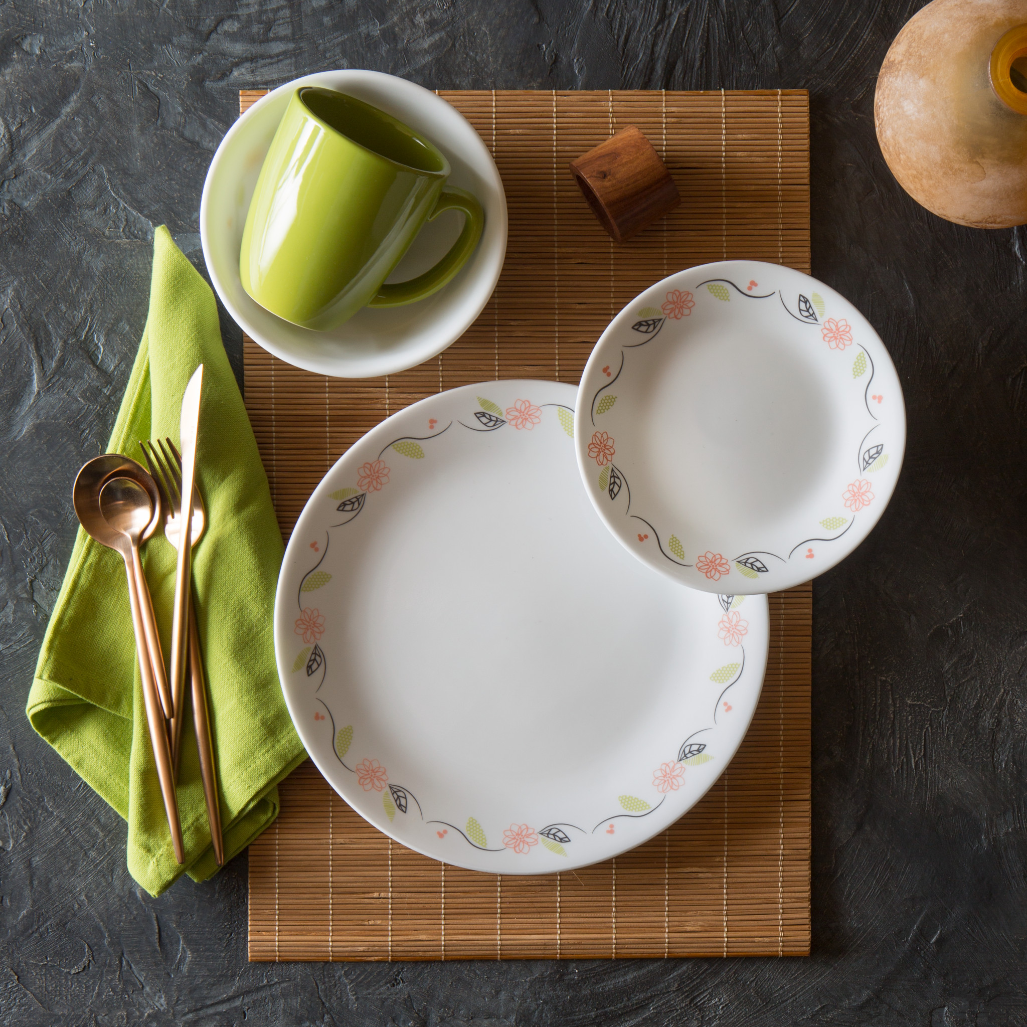 Set of 20 Corelle Square Pure White 20.20 Plate Kitchen & Dining ...