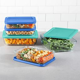 Simply Store 10-pc Meal Prep Glass Storage Set with food inside on the counter