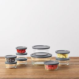 Simply Store® 20-pc Set with Gray Lids with Food on the Counter
