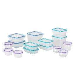 Total Solution Pyrex Glass & Plastic Food Storage 30-pc Round Set
