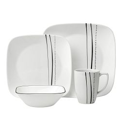 Square Cascading Lines 16-pc Dinnerware Set