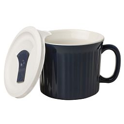 Midnight Blue 20-oz Mug with Vented Lid