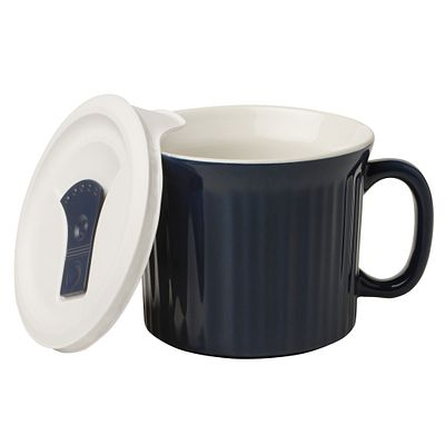 Corningware Colours Pop-Ins Midnight Blue 20-Oz Mug W/ Vented Lid