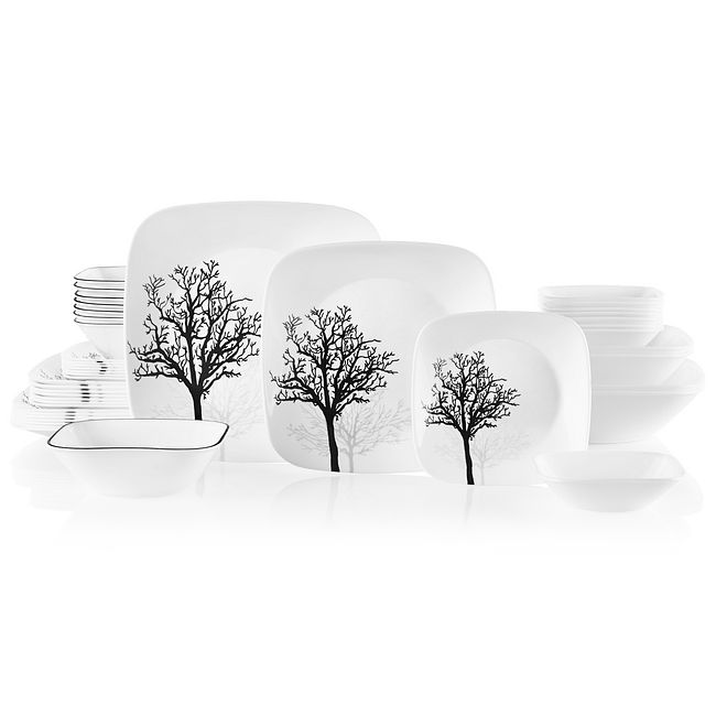 Timber Shadows 44-piece Dinnerware Set, Service for 8