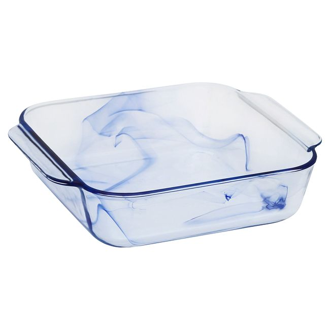 "Watercolor Collection 8"" Square Glass Baking Dish"