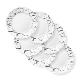 "Stone Grey 11"" Dinner Plate, 6-pack"