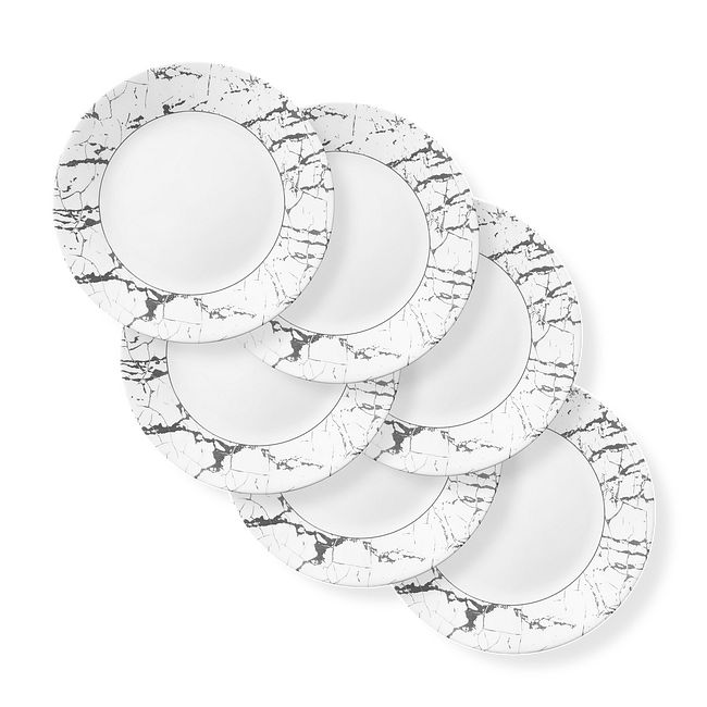 "Stone Grey 11"" Dinner Plates, 6-pack"