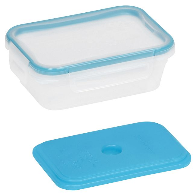 Total Solution On the Go 3 Cup Plastic Rectangle Storage w/ Ice Pack