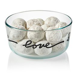 Simply Store 4 Cup Celebrations Love Storage Dish with food inside