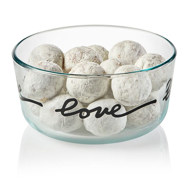 Celebrations Love 4-cup Glass Food Storage Container with White Lid