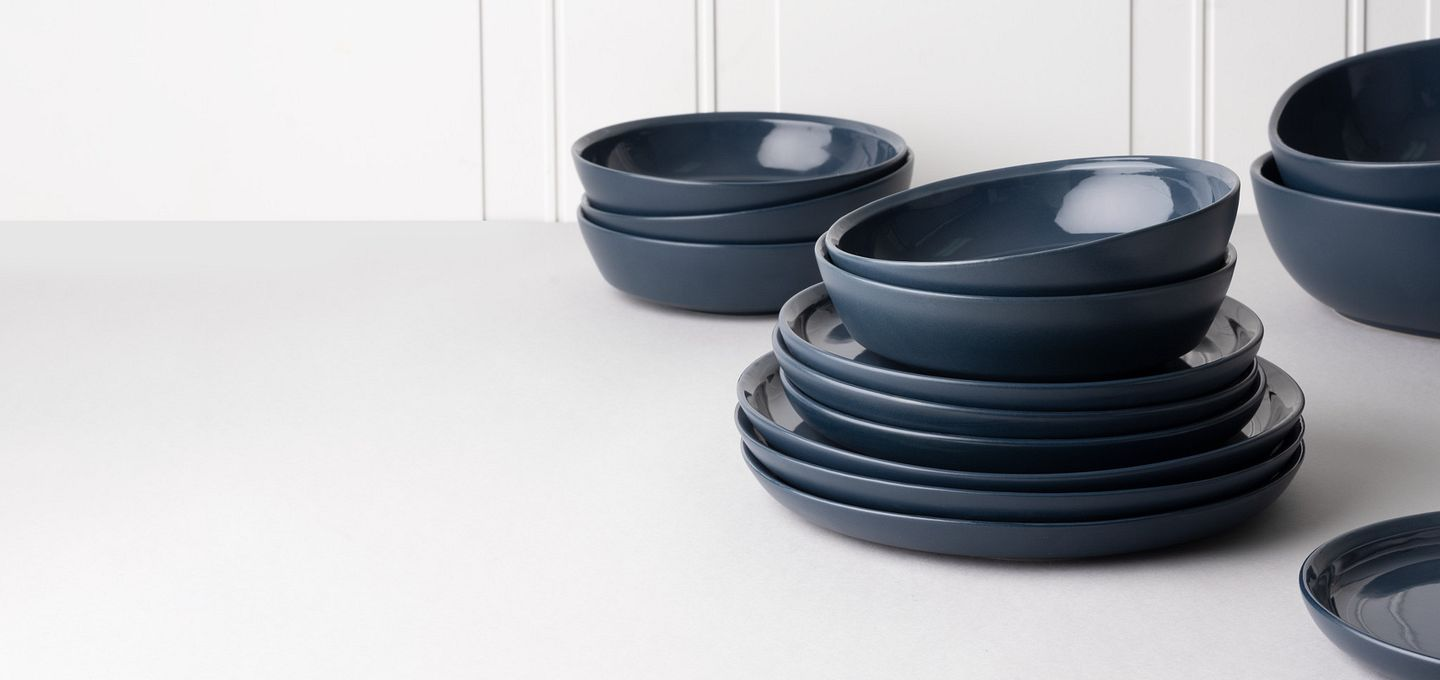 New CW Dinnerware from Corningware in Midnight Blue