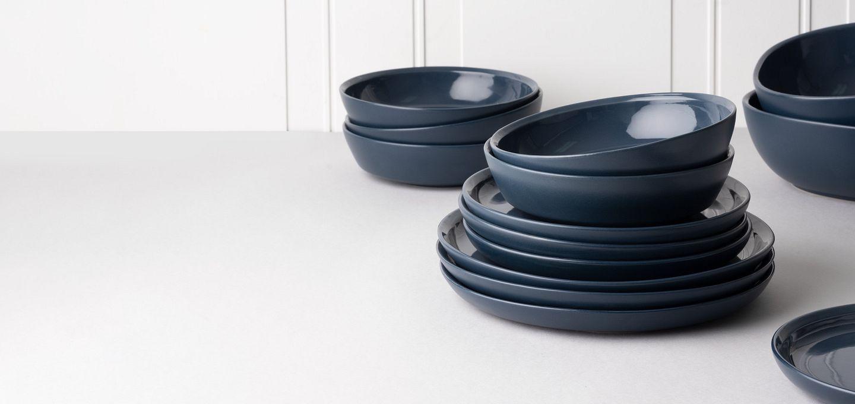 New CW Dinnerware from Corningware in Midnight Blue