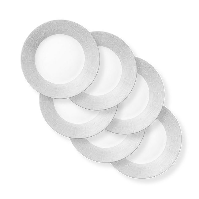 """Woven Lines 11"""" Dinner Plates, 6-pack"""