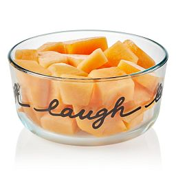 Simply Store 4 Cup Celebrations Laugh Storage Dish with food