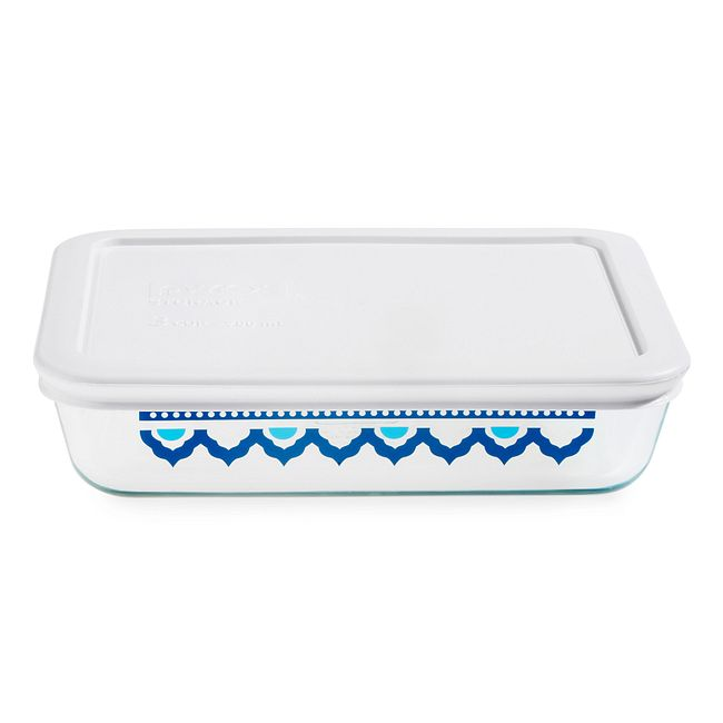 Santorini 3-cup Glass Food Storage Container with White Lid