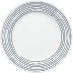 "Brushed Silver 10.75"" Dinner Plate"