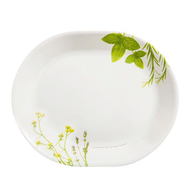 "European Herbs 12.25"" Serving Platter"