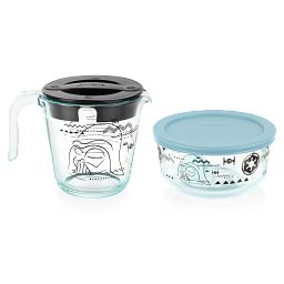 4-piece Measuring Cup and Storage Set with measuring cup showing Darth Vadar