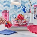Be Awesome 7-cup Glass Food Storage Container, Gray (Lid Sold Separately)