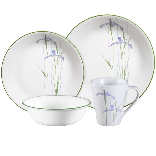Shadow Iris Dinnerware Set, Service for 4