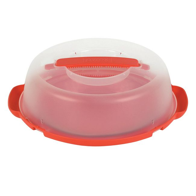 "9"" Pie Plate and Red Portables Pie Carrier"