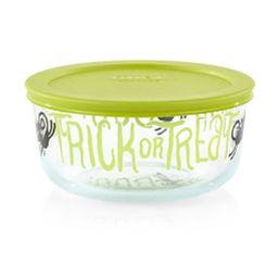Trick or Treat 4-cup Glass Food Storage Container with Sage Green Lid