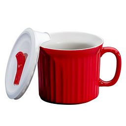 Colours® Pop-Ins® Red 20-ounce Mug with Vented Lid