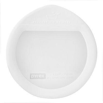 Pyrex Ultimate 4 Cup Round Glass Storage Lid, White