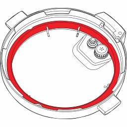 3-quart Clear Sealing Ring, 2-pack mechanical view
