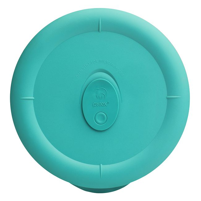 Turquoise Vented Lid for 5-cup Glass Food Storage Container