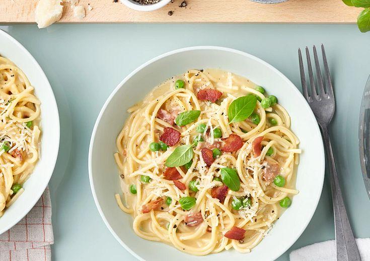 Spaghetti Carbonara in instant pot