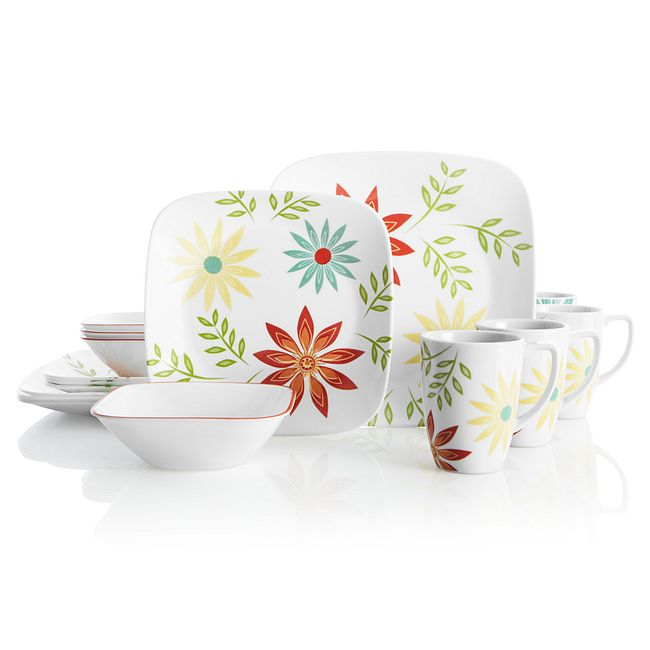 Happy Days 16-piece Dinnerware Set, Service for 4
