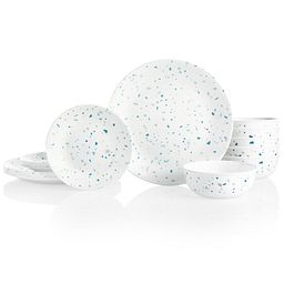 Terrazzo Verde 18-piece Dinnerware Set, Service for 6