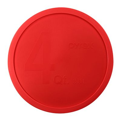 Pyrex 4-Qt Round Mixing Bowl Plastic Lid, Red