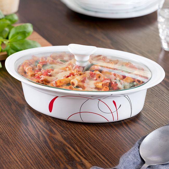 Splendor 2-qt Oval Casserole w/ Glass Lid