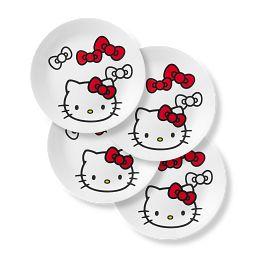 "Hello Kitty 8.5"" Salad Plates, 4-pack"