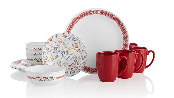 Prairie Garden Red 16-pc Dinnerware Set