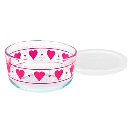 Simply Store Smitten 4 Cup Decorate Storage Dish w/ White Lid