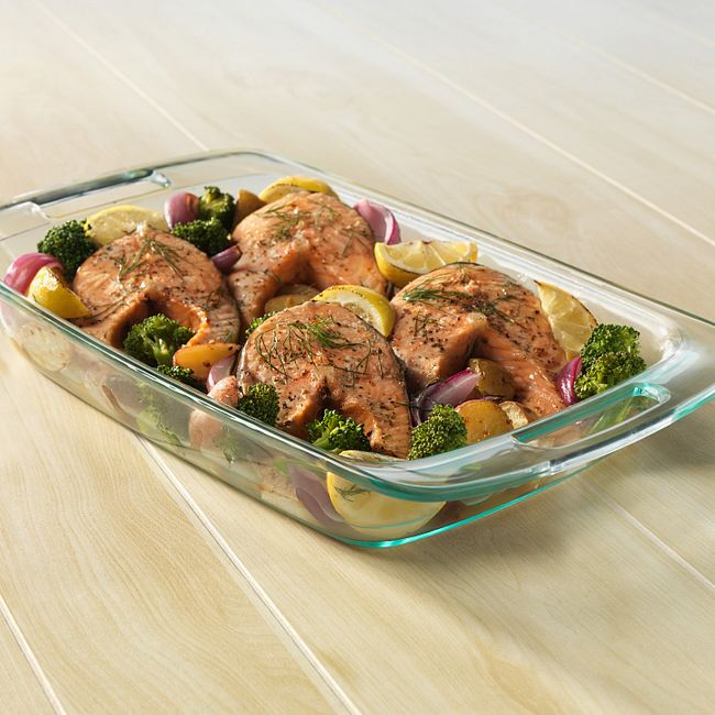 Easy Grab 6-piece Glass Bake n' Store™ Set with Blue Lids