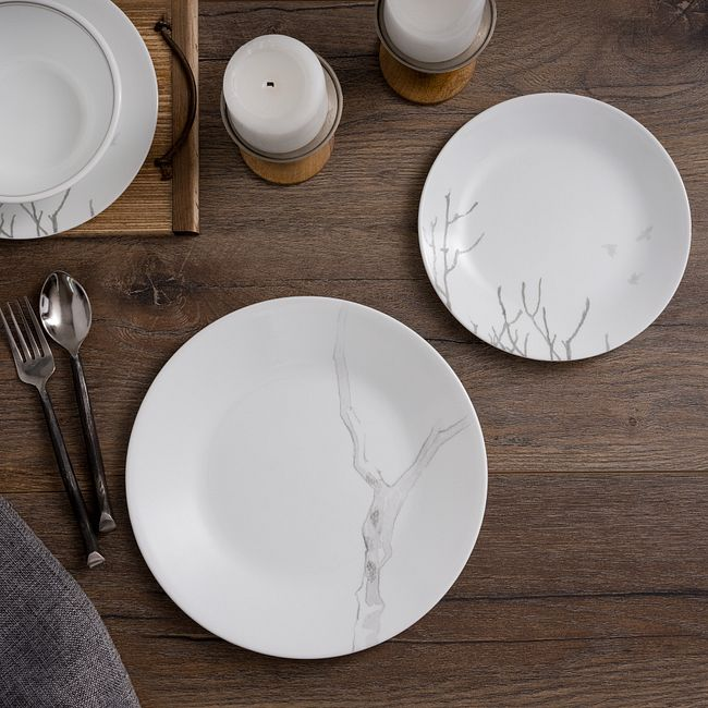 Silver Birch 16-piece Dinnerware Set, Service for 4
