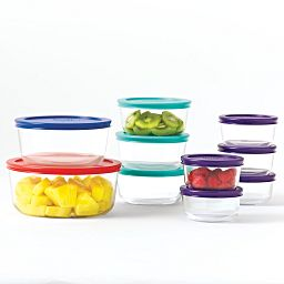 20-pc Round Storage Set w/ Food in Bowls