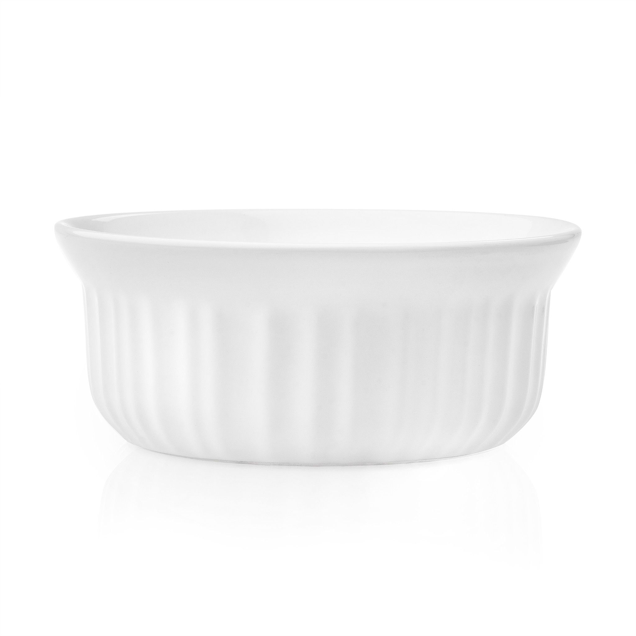 French White 16-ounce Round Casserole