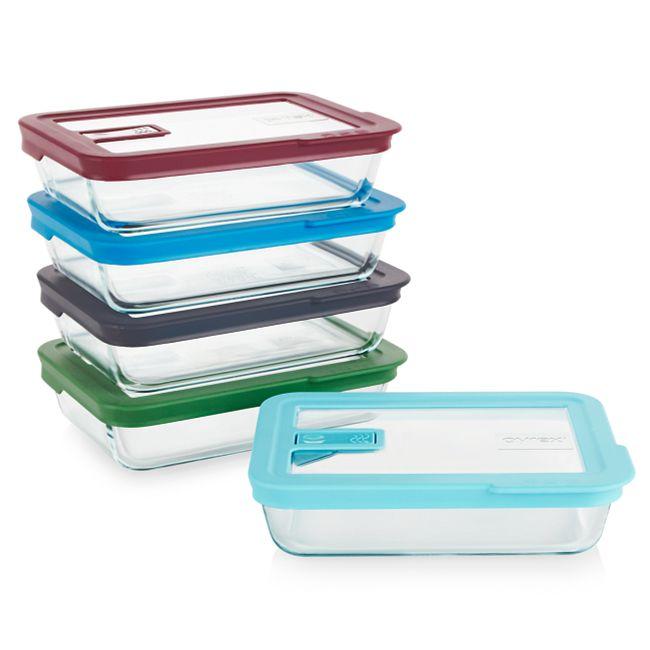 No Leak Lid™ 10-piece Glass Food Storage Set