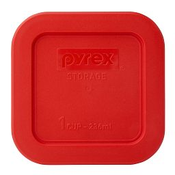 1 Cup Square Storage Plastic Lid  Red