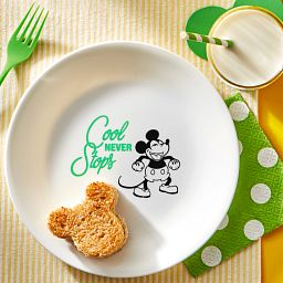 "8.5"" Salad Plate: Mickey Mouse™ - Cool Never Stops with Mickey Mouse shaped sandwich on plate"